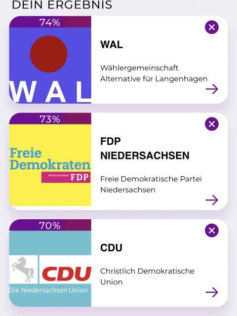 VOTO - der Wahl-O-Mat für die Kommunalwahlen in Langenhagen